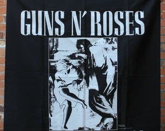 Guns N' Roses Original NOS 1991 Use Your Illusion I Rock Banner Flag