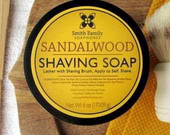 Sandalwood Shave Soap with Olive Oil