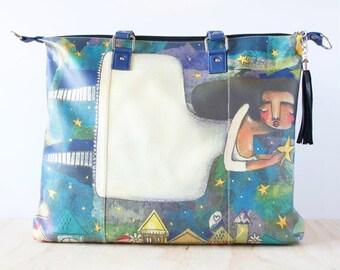 Shoulder Shopping Bag, 'Put My Own Star' by ChiarArtIllustration
