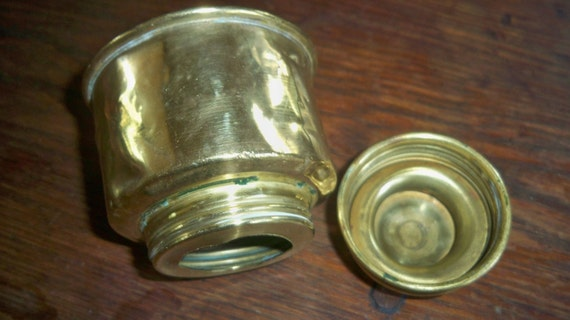 French 1800's Inkwell  Box Screwed Brass Made Handmade Box Lidded Collectible Box #sophieladydeparis
