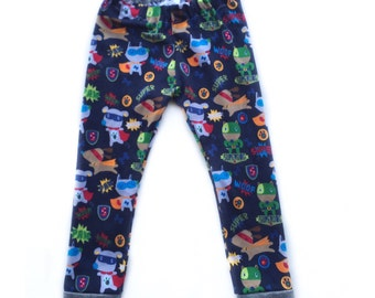 Superhero Leggings - superhero pups leggings - leggings - baby pants - boys leggings - leggings for boys - boys pants - Baby pants