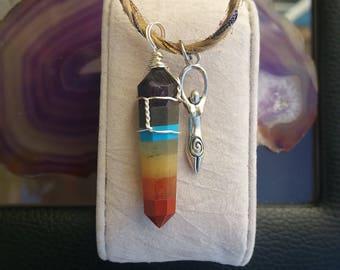 Spiral Goddess Chakra Crystal Necklace