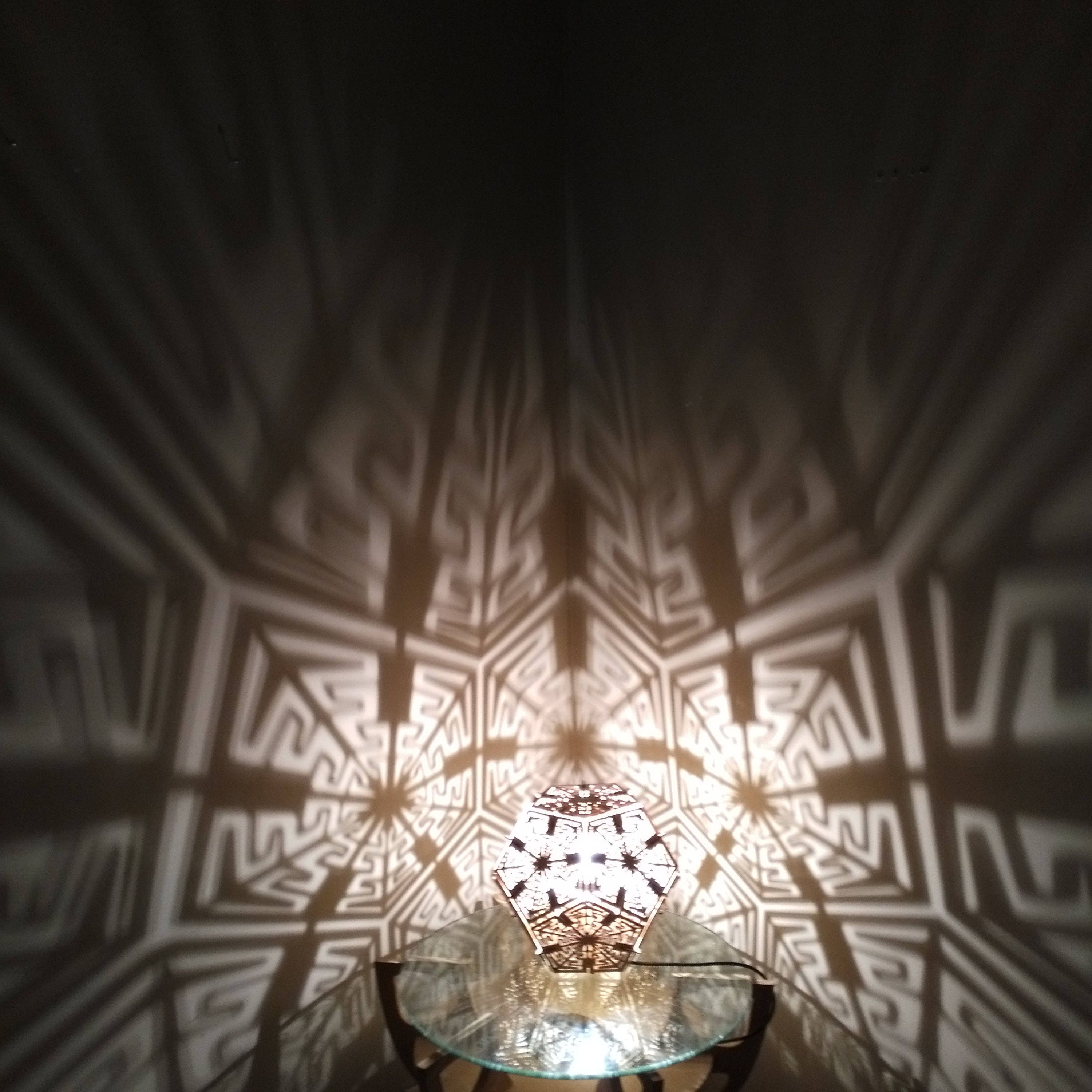 Dodecahedron Desk Shadow Lamp