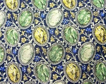 Vintage Valentino silk tie, Valentine's, amber, jade, gems