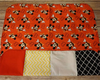 Reversible Patchwork Baby Receiving Blanket Set | Mickey Mouse | 26x26