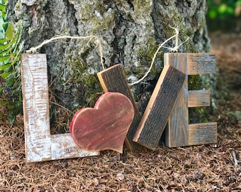 Rustic Love Wood Sign, Reclaimed Wood Love Wedding Sign, Wooden Love Sign, Love Sign, Distressed Wood Sign, Rustic Wedding Decor
