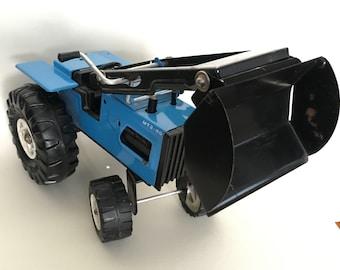 Vintage European Tin Toy Bagger Excavator Caterpillar Bagger