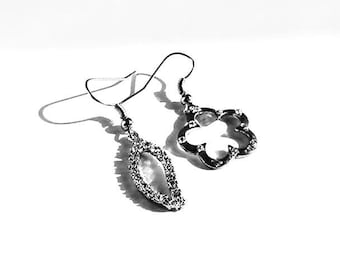 Silver wings earrings