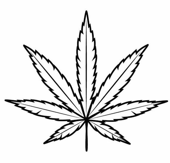 marijuana leaf 3 medicine cannabis pot weed smoking smoke rh etsy com simple pot leaf vector Pot Leaf Silhouette Vector