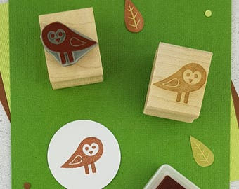 Owl Stamp - Baby Barn Owl Rubber Stamp - Owl Gift - Gift for Owl Lover - Bird Rubber Stamp - Halloween Craft