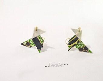 Jikata 地方 eco friendly Origami earrings. Gold plated