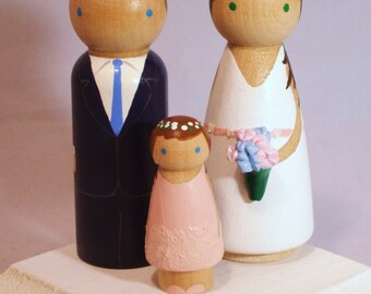 Cake Toppers with One Child Fully Customizable---3-D Accents