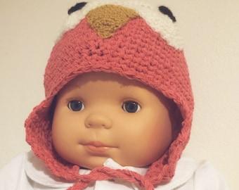 Hat girl cotton handmade crochet-/ Hat pet parents / baby Princess pinguin