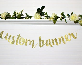 BRIDAL SHOWER BANNER - Custom Banner - Wedding Decoration - Birthday - Bachelorette Party Banner - Engagement Party Banner - Wedding Love-G5