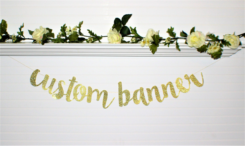 BRIDAL SHOWER BANNER Custom Banner Wedding Decoration