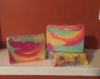 Rainbow Sherbet Soap