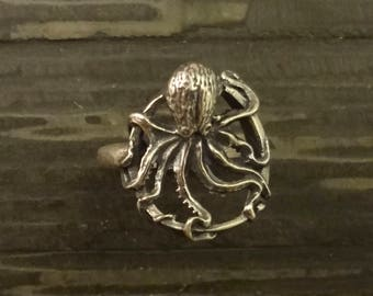 Octopus Ring Handmade in the Pacific Northwest