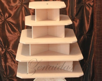 Cupcake Stand 5 Tier Square MDF Wood 100 Cupcake Tower Display Stand  Wedding Stand Birthday Stand DIY Project