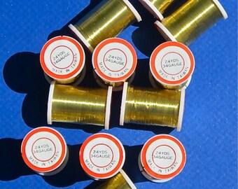 Fine Gauge Gold Wire, 12 spools, 288 Yards