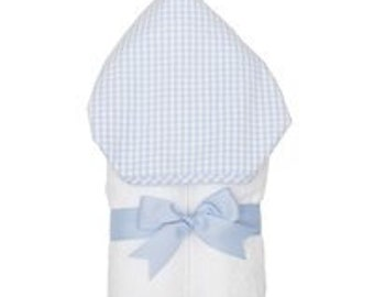 Blue Check Everykid Towel-Available with or without Monogram