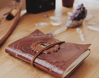 Handmade Leather Journal |Travel leather journal