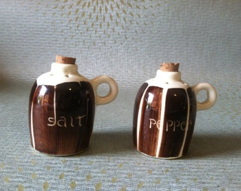 Moonshine jug salt and pepper shakers