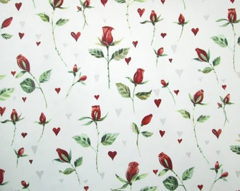 Red rosebuds permanent transfer waterslide decals, fused glass ceramics transfer, craft supplies, kiln craft, poppy flower decals, fusible