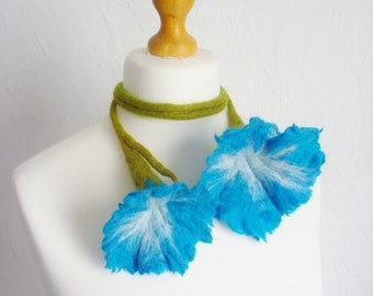 morning glory flower Necklace / scarf / belt