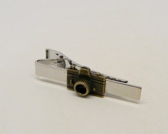 Steampunk tie bar. Steampunk men. Steampunk tie clip.