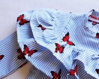 Girls Butterfly Shirt