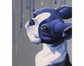 "Pup Study 11 - Original acrylic on board 5x7"""