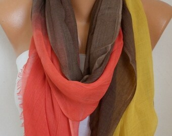 Fall Ombre Cotton Soft Scarf,Graduation Gift,wedding, Pareo,Shawl,Oversize Scarf, Cowl Scarf Gift Ideas for Her Women Fashion Accessories