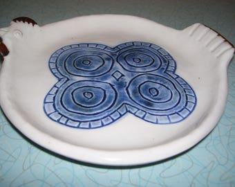 Vintage Otagiri Happu Hand-painted Plate