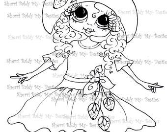 INSTANT DOWMLOAD Digital Digi Stamps Big Eye Big Head Dolls Digi  My Besties IMG060 By Sherri Baldy