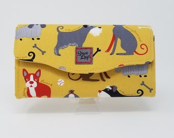 Necessary Clutch Wallet - Vintage Dogs