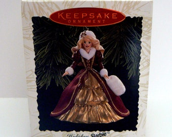 Hallmark Holiday Barbie Christmas Ornament 4th in Series Patricia Andrews