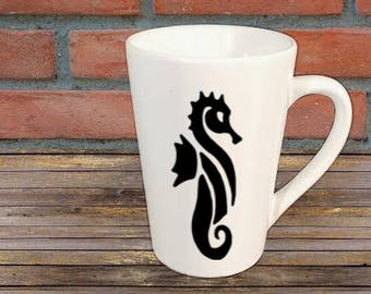 Seahorse Mug Coffee Cup Gift Home Decor Kitchen Bar Gift for Her Him Any Color Personalized Custom Jenuine Crafts