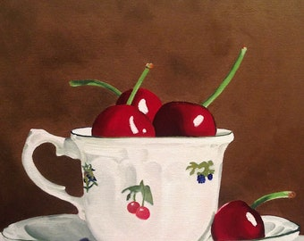 "Fine Art Giclee Print ""Cherry Time"""
