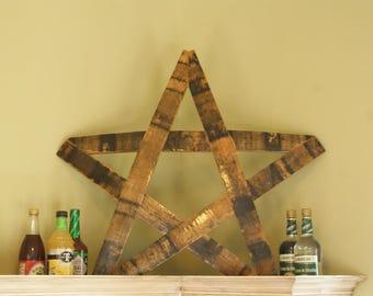 Handcrafted Repurposed Jack Daniel's Barrel Stave Star