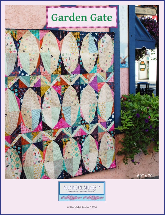 Garden Gate - An Urban Folk Pattern from Blue Nickel Studios - PDF Download