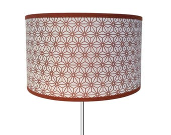 SMALL LAMPSHADE PATTERN COPPER STARS