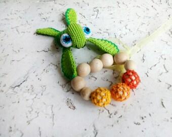 Teether Turtle Teething toy Baby boy gift Baby shower gift Teething Wood teether Baby girl gift Baby teether Natural toy Wooden teether