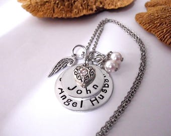 Husband Memorial, Husband Memorial Keychain, Husband Memorial Necklace, My Angel Husband, Husband Bereavement, Loss of Husband, Husband Loss