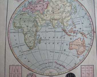 Vintage Map Lot, Vintage Map Pages, Map Lot, Antique Maps