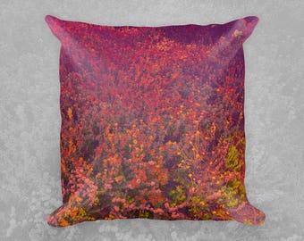 California Wildflowers Square Throw Pillows