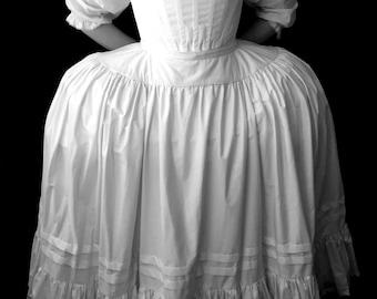 Plus Size 18th century Marie Antoinette Petticoat, Historic Underwear Pannier Skirt