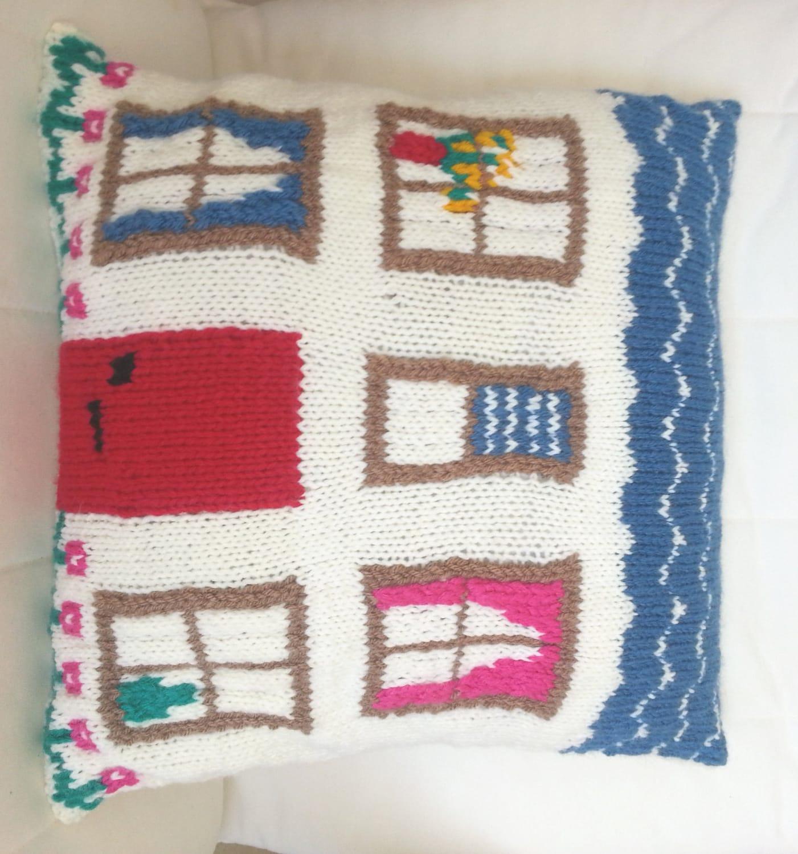 Pillow Knitting Pattern, Cushion knitting pattern, House Knitting ...