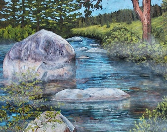 Truckee River, Original Large Painting