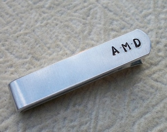 Party of Two - Personalized Aluminum Tie Bar / Tie Clip - Wedding Party - Groomsman Gift