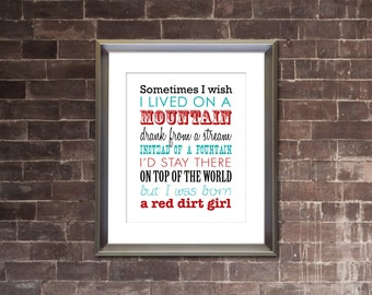 "MIRANDA LAMBERT ""Airstream Song"" PRINTABLE Lyrics Artwork - Verse 2 - I wish I lived on a mountain"